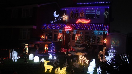 The house puts on a display every year