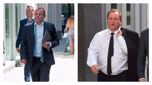 Jeffrey Blue (left), Mike Ashley (right)