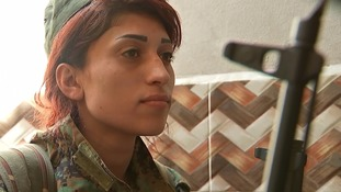 Women are among the Kurdish forces that are fighting with reduced protection.