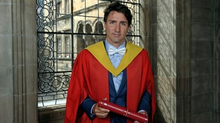 Mr Trudeau told students to follow a path that excites and challenges them.