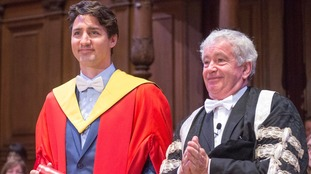 Canadian Prime Minister Justin Trudeau awarded honorary degree in Scotland