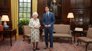 He also had a private meeting with the Queen in Holyrood.