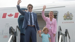 The PM, his wife and son, are on their way to the G20 summit in Germany.