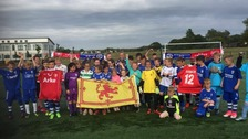Young FC Twente and Stranraer FC fans