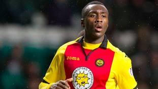 Ade Azeez in action for Partick Thistle.