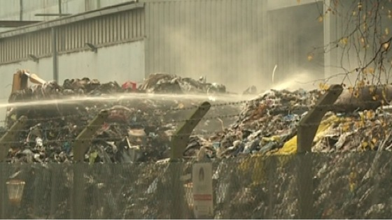 Fire at recycling plant is now under control