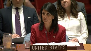 US ambassador Nikki Haley said America would use force if necessary.