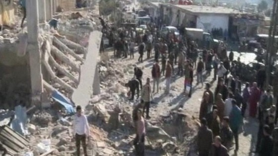 Syrian state TV said at least 16 were killed in the blast