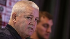 Warren Gatland speaking at a press conference before this Saturday's test.