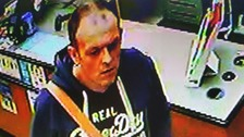 CCTV still of the man suspect.