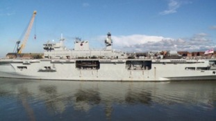 WATCH: HMS Ocean arrives in Sunderland