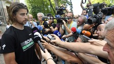 Sagan was sent home by the race jury after being accused of causing a crash with Cavendish.