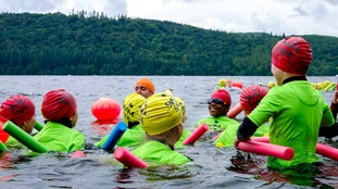 Children in Cumbria learn to swim safely outdoors