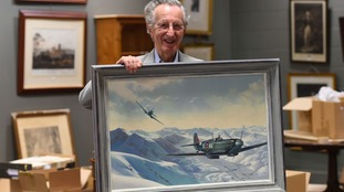 RAF veteran Kurt Taussig wins bid for painting of Spitfire he flew