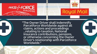 The clause in the contract Field says Parcelforce should be 'ashamed of'.