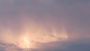 Lightning storm over Rushden in Northamptonshire on Thursday evening.