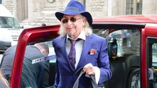 Owen Oyston, whose family owns Blackpool football club arrives at the High Court in London.