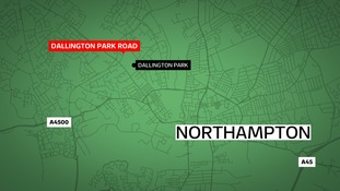 Police are hunting two robbers who stabbed a man in the Dallington area of Northampton.