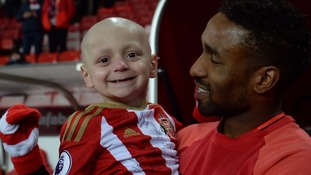 Jermain Defoe says farewell to his 'best friend' Bradley Lowery as football pays tribute to mascot
