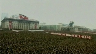 Rallying in Pyongyang
