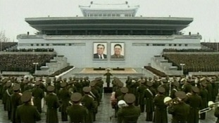 Rallying in Pyongyang