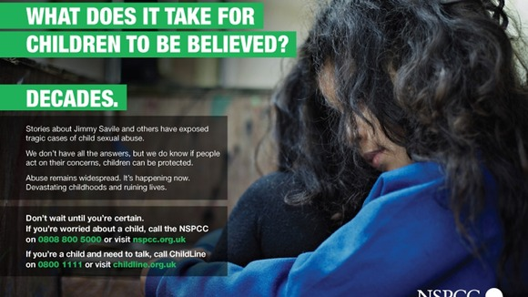 The NSPCC campaign poster