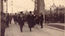 The 17th Earl of Derby officially opens Stanley Park in 1926