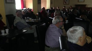 Steve Borthwick's hometown club in Carlisle this morning as supporters watched England take on the All Blacks