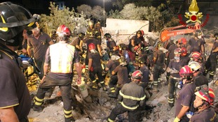 Emergency services worked through the night to find survivors
