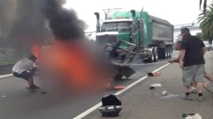 Australian biker crash