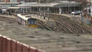 A revised timetable in operation as train strike gets underway
