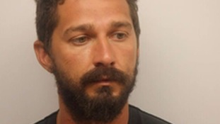 Shia LaBeouf runs away as police arrest him for being drunk and disorderly