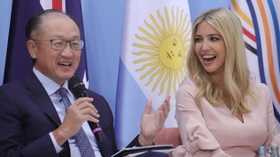 Donald Trump also brought daughter Ivanka, though played a more prominent role alongside the likes of World Bank president Jim Yong Kim at the power summit.