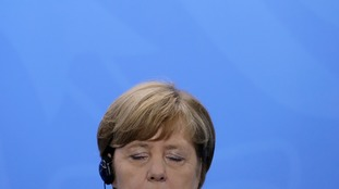 Mrs Merkel appeared to have nodded on during translation during the summit itself.