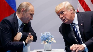 Though Vladimir Putin and Donald Trump appeared to be relaxed in each other's company.