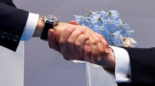 Guess the hands? It came from the much-anticipated meeting from the Russian and US leaders.