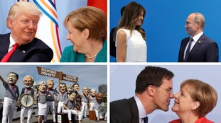 20 power postcards: Memorable G20 images including awkward meetings and a 'sleeping' host