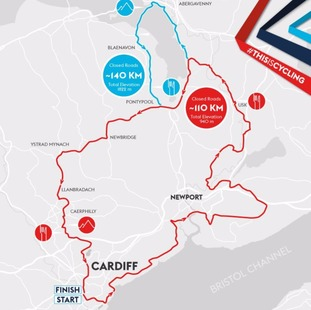 A map of the velothon route.