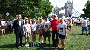 Family walk to raise awareness of heart conditions