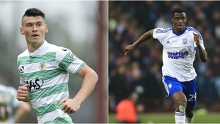 Kieffer Moore (left) and Josh Emmanuel (right) are likely to spend next season on loan at Rotherham.