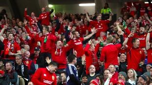 Lions' fans