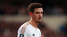 Liam Shephard played for Swansea in the FA Cup at Oxford in 2016.