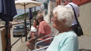 Anne was sitting in one of her favourite spots along Marine Parade in Lyme Regis.