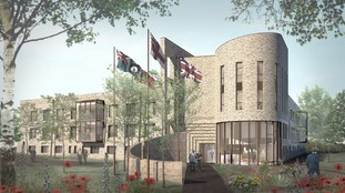 Computer generated image of the Veterans Care Village