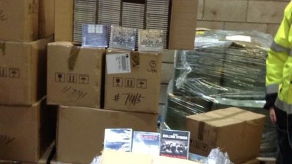 Massive haul of fake CDs seized at Manchester airport