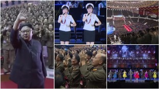 Kim Jong-un attends pop concert to celebrate launch of North Korea's first intercontinental ballistic missile
