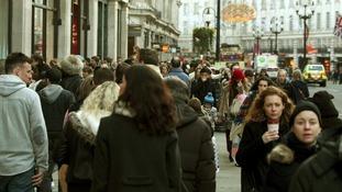 Pre Christmas shoppers
