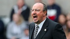 Benitez during Newcastle's Championship spell