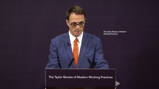Report author Matthew Taylor set out seven 'principles for fair and decent work'.