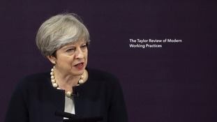 Theresa May endorses 'feeble' review into gig economy workers' rights